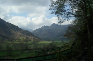 Looking towards the Langdales